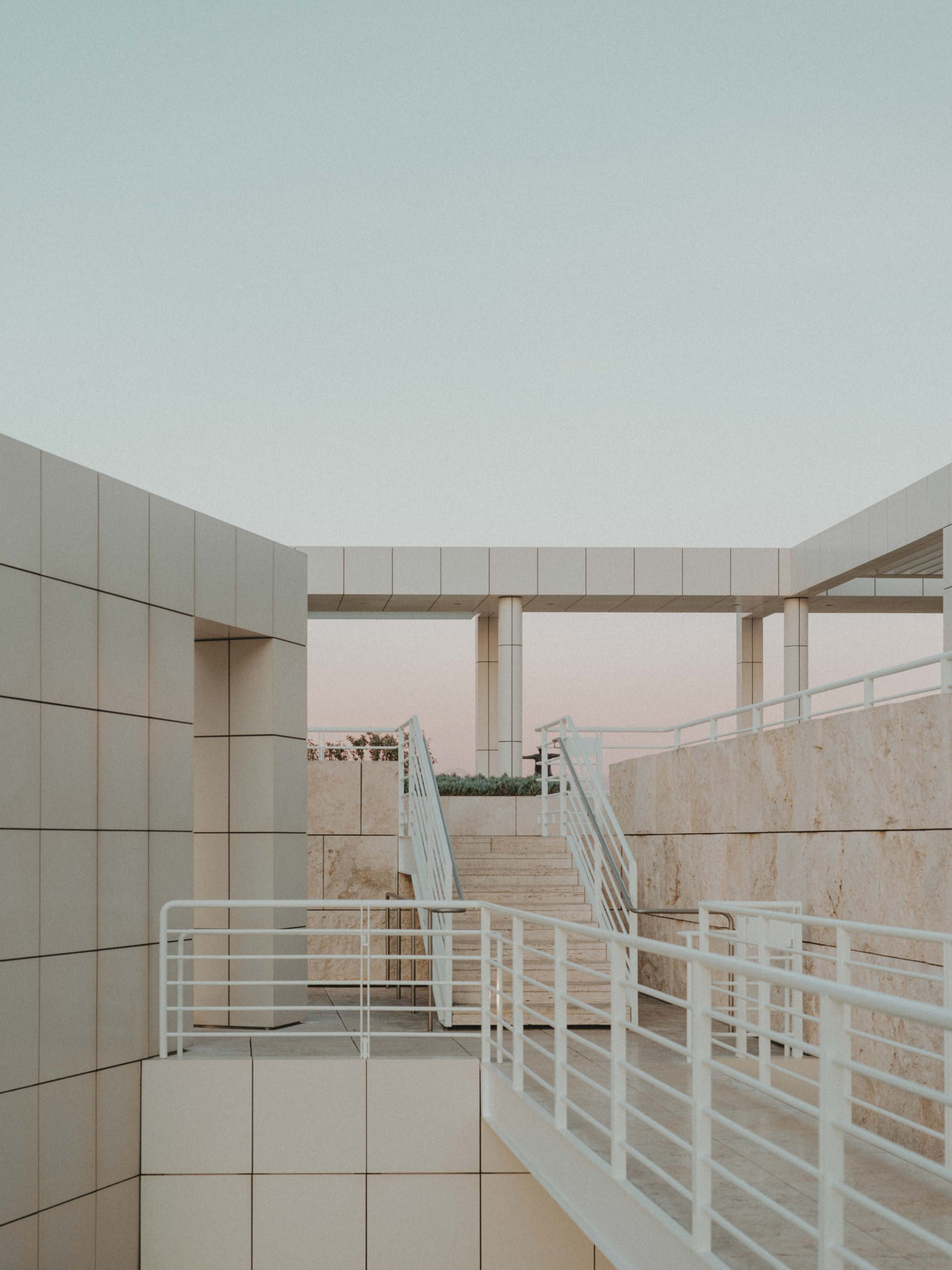 Sunset at Getty Museum Los Angeles - photographed by Julius Hirtzberger